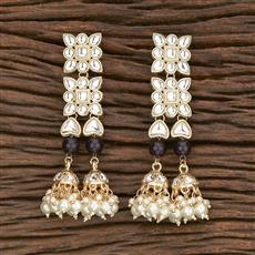 103037 Indo Western Trendy Earring With Gold Plating