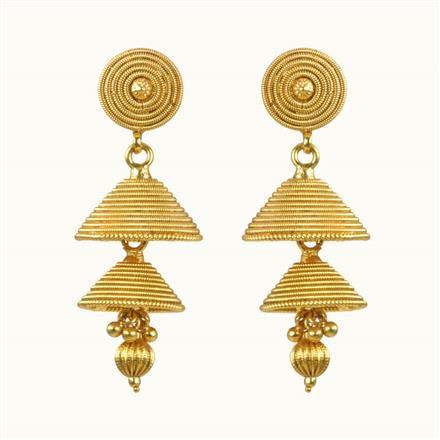 10305 Antique Jhumki with gold plating
