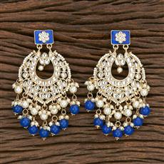 103108 Indo Western Chand Earring With Gold Plating