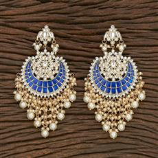 103110 Indo Western Chand Earring With Gold Plating