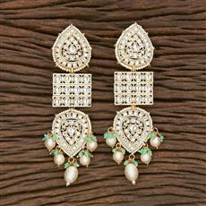 103114 Indo Western Trendy Earring With Gold Plating