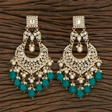 103115 Indo Western Chand Earring With Gold Plating