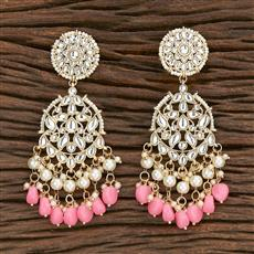 103116 Indo Western Chand Earring With Gold Plating