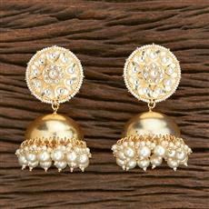 103122 Indo Western Jhumkis With Gold Plating