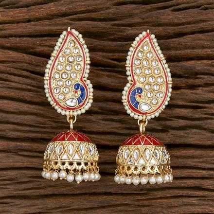 103150 Indo Western Jhumkis With Gold Plating