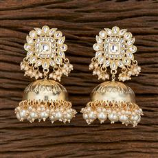 103155 Indo Western Jhumkis With Gold Plating