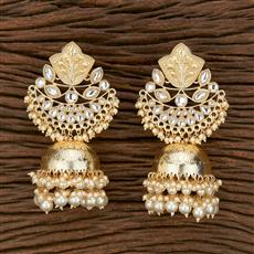 103156 Indo Western Jhumkis With Gold Plating