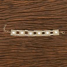 103157 Indo Western Classic Bracelet With Gold Plating