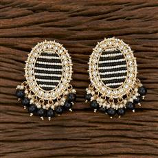 103159 Indo Western Trendy Earring With Gold Plating