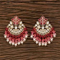 103162 Indo Western Chand Earring With Gold Plating
