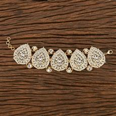 103165 Indo Western Trendy Bracelet With Gold Plating