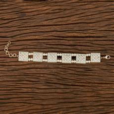 103166 Indo Western Classic Bracelet With Gold Plating