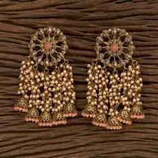 103170 Indo Western Jhumkis With Mehndi Plating