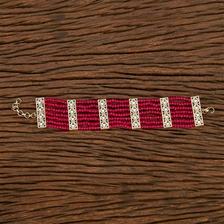 103244 Indo Western Classic Bracelet With Gold Plating