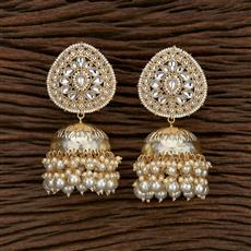103262 Indo Western Jhumkis With Gold Plating