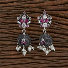 103268 Indo Western Trendy Earring With Oxidised Plating