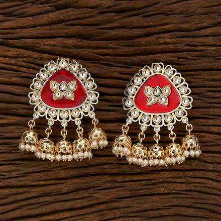 103388 Indo Western Trendy Earring With Gold Plating