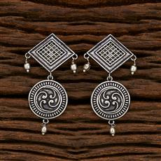 103428 Indo Western Classic Earring With Oxidised Plating