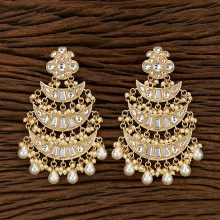 103436 Indo Western Chand Earring With Gold Plating
