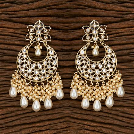 103437 Indo Western Chand Earring With Gold Plating