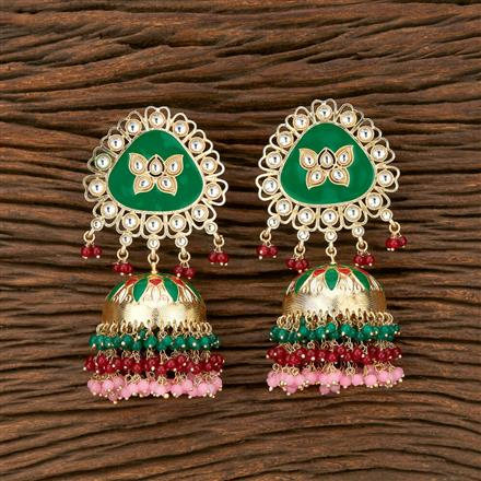 103475 Indo Western Jhumkis With Gold Plating