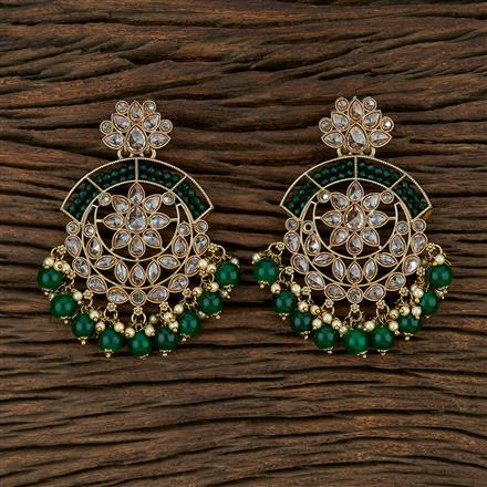 103503 Indo Western Classic Earring With Mehndi Plating