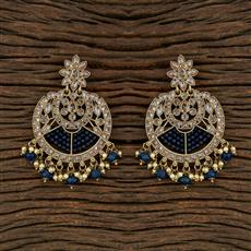 103506 Indo Western Chand Earring With Mehndi Plating