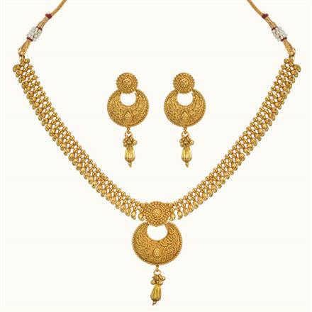 10352 Antique Delicate Necklace with gold plating