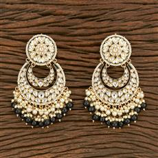 103562 Indo Western Chand Earring With Gold Plating