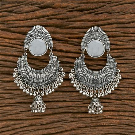 103564 Indo Western Classic Earring With Oxidised Plating