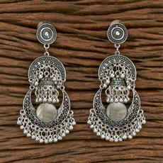 103566 Indo Western Classic Earring With Oxidised Plating