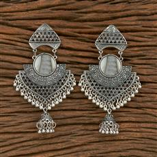 103567 Indo Western Classic Earring With Oxidised Plating