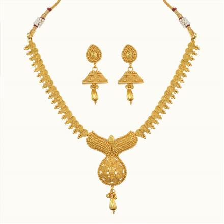 10356 Antique Delicate Necklace with gold plating