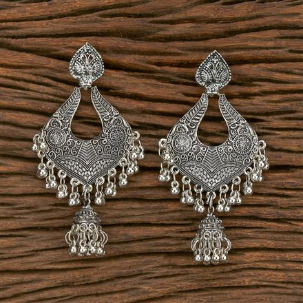103570 Indo Western Classic Earring With Oxidised Plating