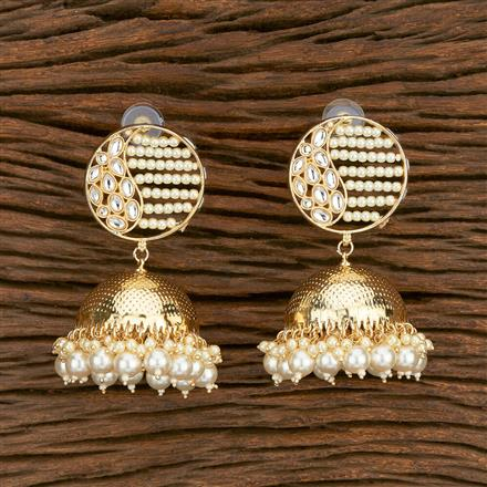 103581 Indo Western Jhumkis With Gold Plating