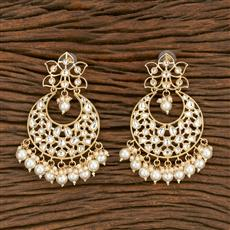 103585 Indo Western Chand Earring With Gold Plating