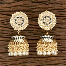 103587 Indo Western Jhumkis With Gold Plating
