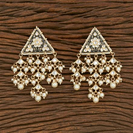 103589 Indo Western Trendy Earring With Gold Plating