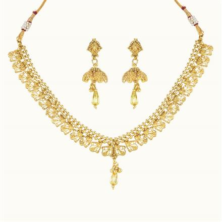 10362 Antique Delicate Necklace with gold plating