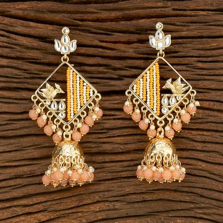 103645 Indo Western Trendy Earring With Gold Plating