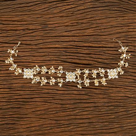 103655 Indo Western Classic Hair Band With Gold Plating