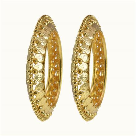 10366 Antique Temple Bangles with gold plating