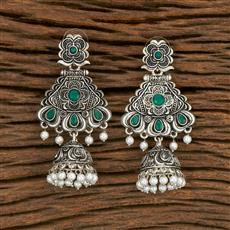 103693 Indo Western Trendy Earring With Oxidised Plating