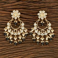 103694 Indo Western Chand Earring With Gold Plating
