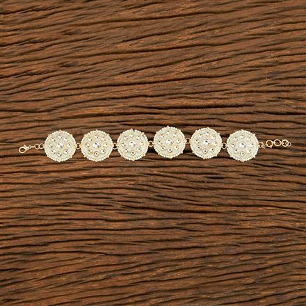 103737 Indo Western Classic Bracelet With Gold Plating