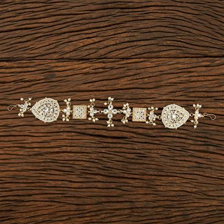 103774 Indo Western Classic Hair band With Gold Plating