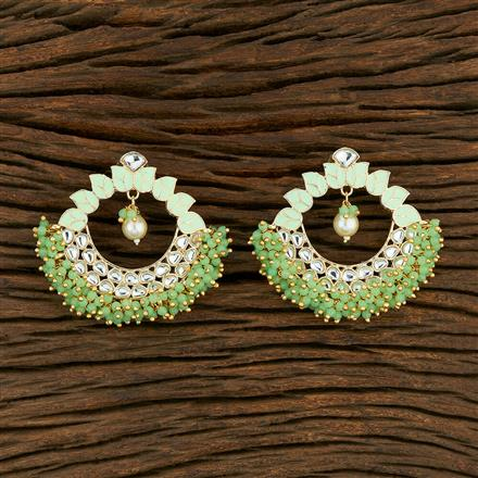 103809 Indo Western Meenakari Earring With Gold Plating