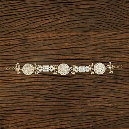 103912 Indo Western Classic Hair band With Gold Plating
