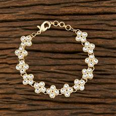 103923 Indo Western Classic Bracelet With Gold Plating