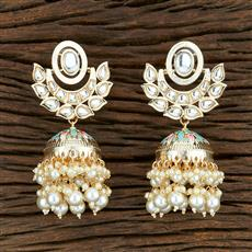103968 Indo Western Jhumkis With Gold Plating